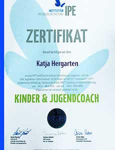 Kinder- und Jugendcoach Zertifikat, Katja Hergarten