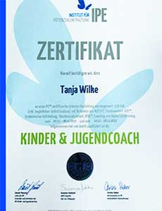 Kinder- und Jugendcoach Zertifikat, Tanja Wilke